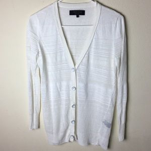 Rag & Bone Size Small Cream Linen Cardigan